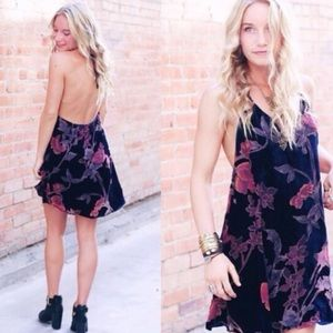 Velvet burnout dress